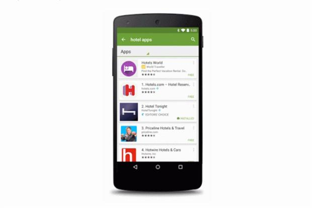 Google Play will pilot sponsored search on app store.