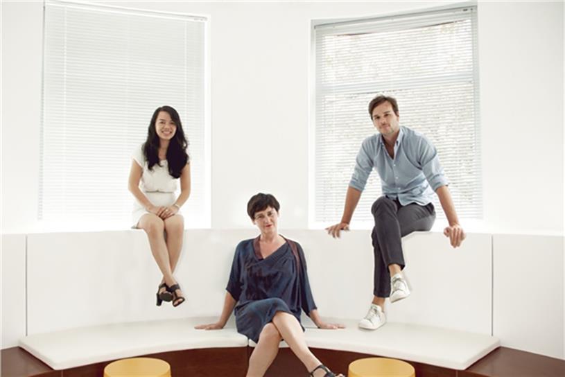 From left: Thuy Tran, Karen Corrigan, Alan Cerutti.