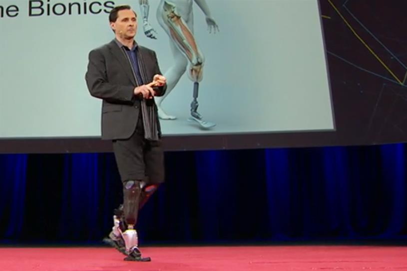 Hugh Herr, head of Biomechatronics at MIT Media Lab, at a March 2014 TED Talk.