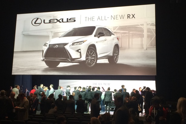 Toyota's Lexus brand revealed the first car of the day.