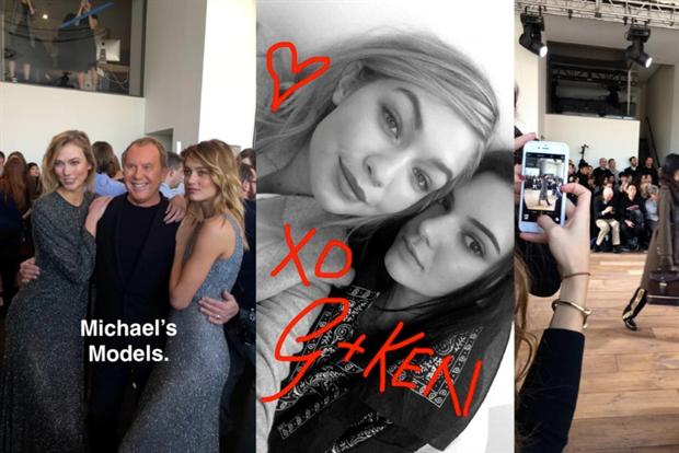 Michael Kors: following the fans on Snapchat.