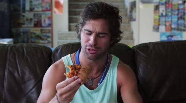 Pizza Hut Australia's spot shows Vegemite stuffed crust is made for Australians.