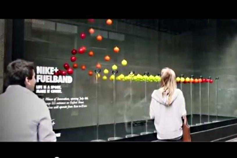Selfridges collaborated with Nike to create an interactive window installation.