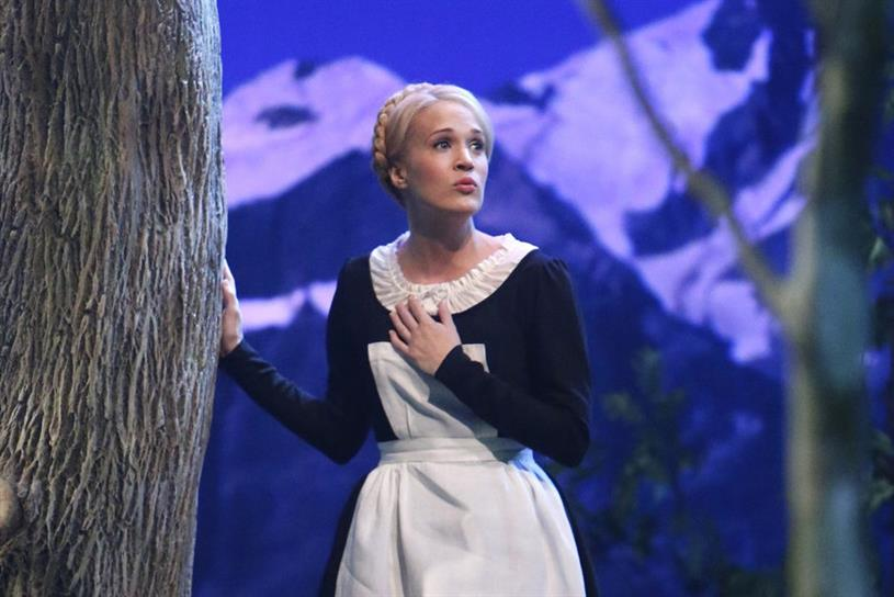 "A scene from NBC's live broadcast of ""The Sound of Music."""