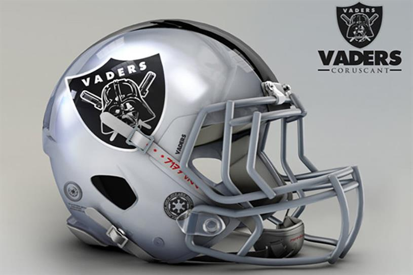 "Mexican artist John Raya recently redesigned all 32 NFL team helmets as ""Star Wars"" characters."