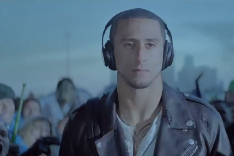 San Francisco 49ers quarterback Colin Kaepernick, in an ad for Beats by Dre.