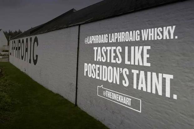 Laphroaig: celebrates 200th anniversary with Twitter campaign.