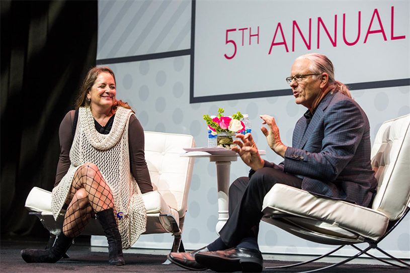 FCB's global chief creative officer Susan Credle and Jeff Goodby, co-chairman and partner of Goodby Silverstein & Partners (Photo Credit: Bronac McNeill)