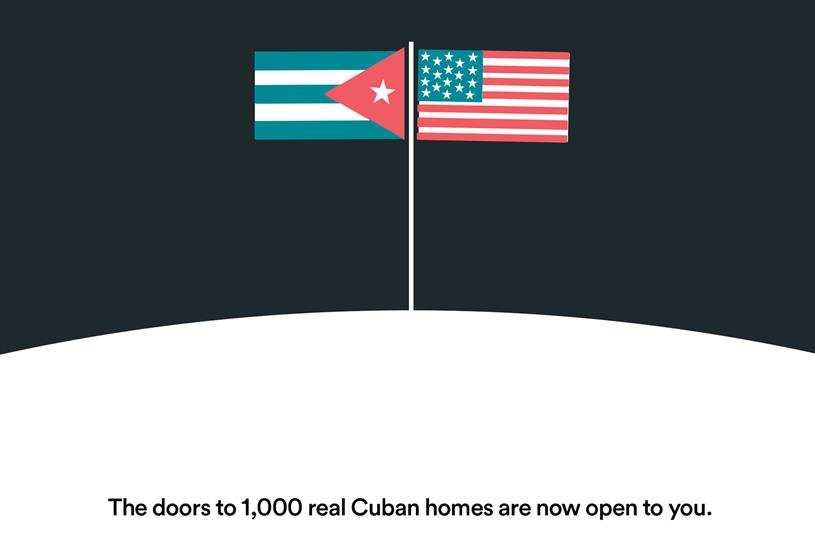 Airbnb expands to Cuba.