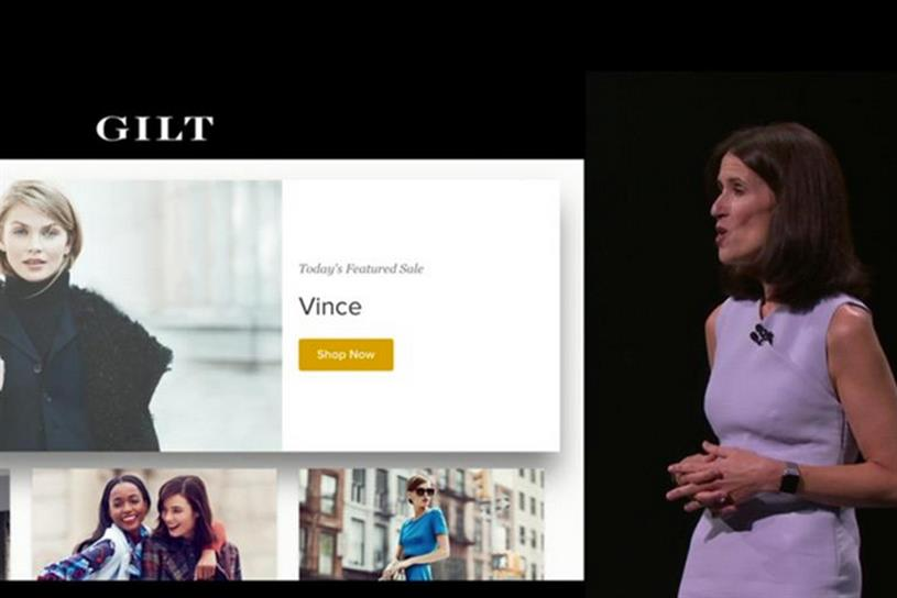 Gilt Groupe showed off shopping via the new Apple TV.