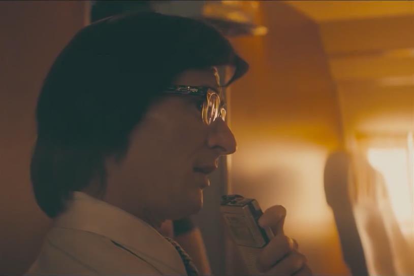 Not Truman Capote: Rock journalist from Jose Cuervo's Rolling Stones spot.