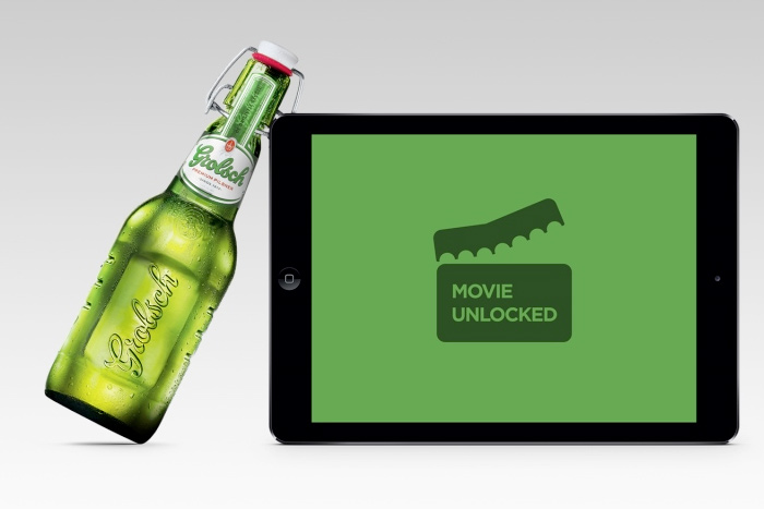 Grolsch inserted NFC technology into its bottles in Russia so users could watch a movie by clinking a mobile device.