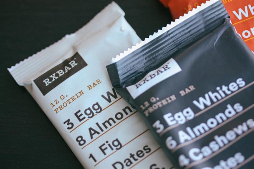 RXBar's no BS packaging.