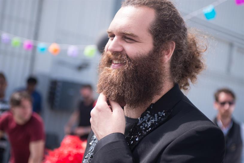 """Harley Morenstein of """"Epic Meal Time"""" for Schick Hydro."""