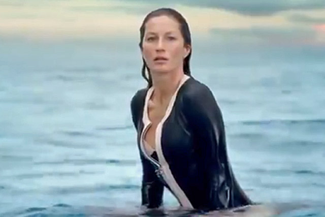 Gisele Bündchen in a new ad for Chanel No 5.