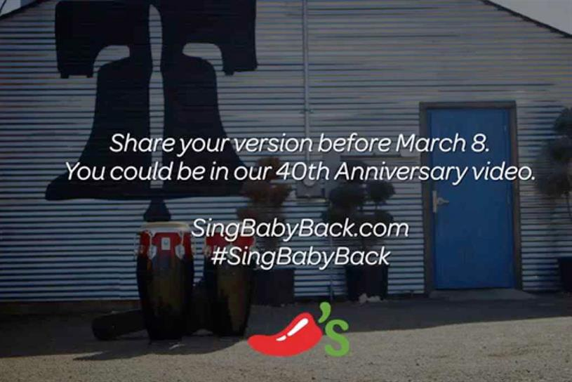 """Chili's """"Sing Along with Chili's Baby Back Ribs Song"""" by IMM."""