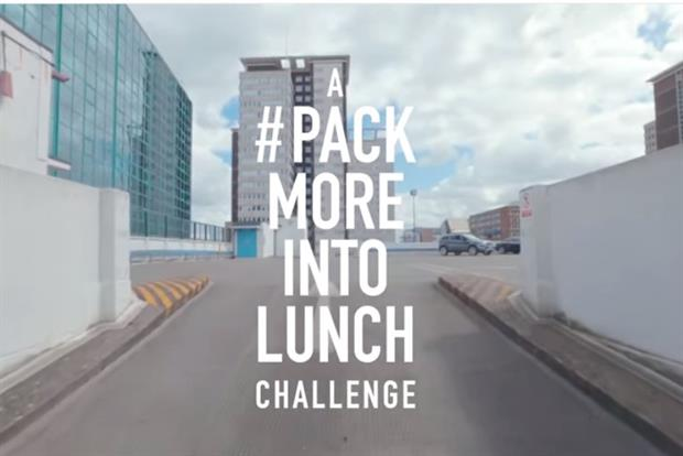 "KFC runs ""pack more into lunch"" campaign."