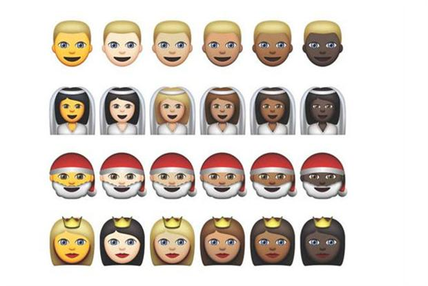 Apple emoji: beta OS X introduces new skin tones.