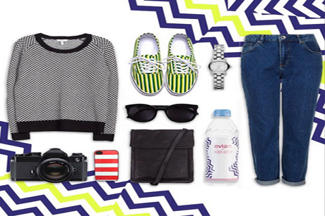We Are Social employed outfit grids to show off Evian's stylish Kenzo bottles.