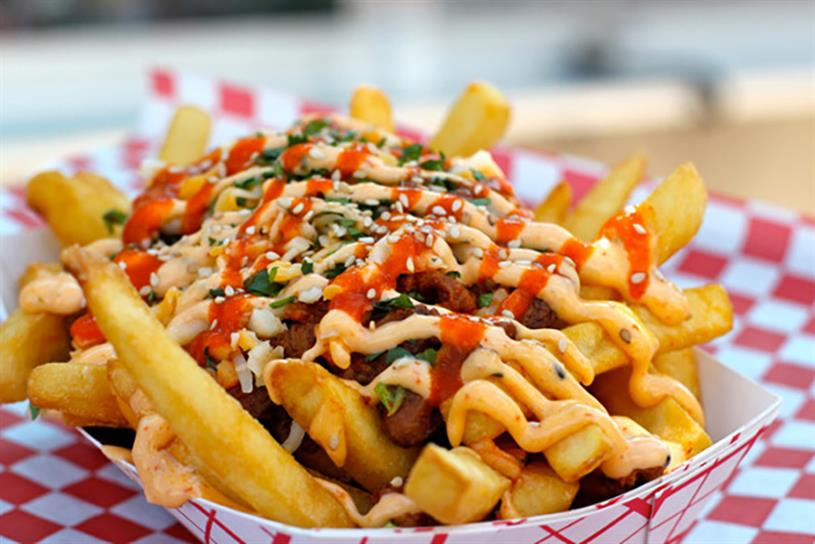 Chi'Lantro's kimchi fries.