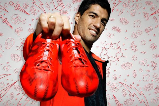Adidas: controversial Luis Suarez features in 'There will be haters' campaign.
