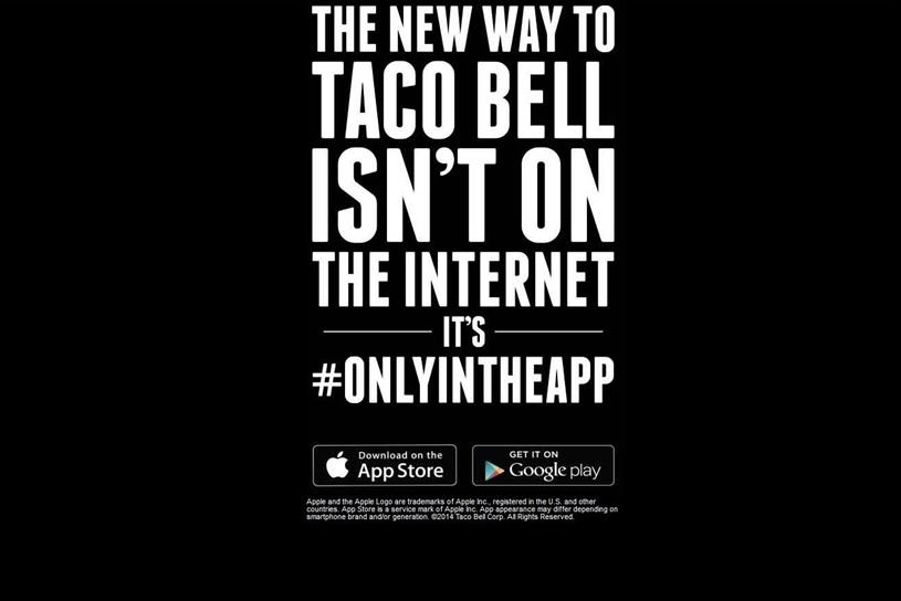 Taco Bell's stark message to customers.