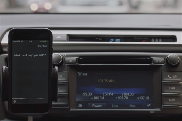 Toyota hijacks voice control on smartphones through a radio ad.