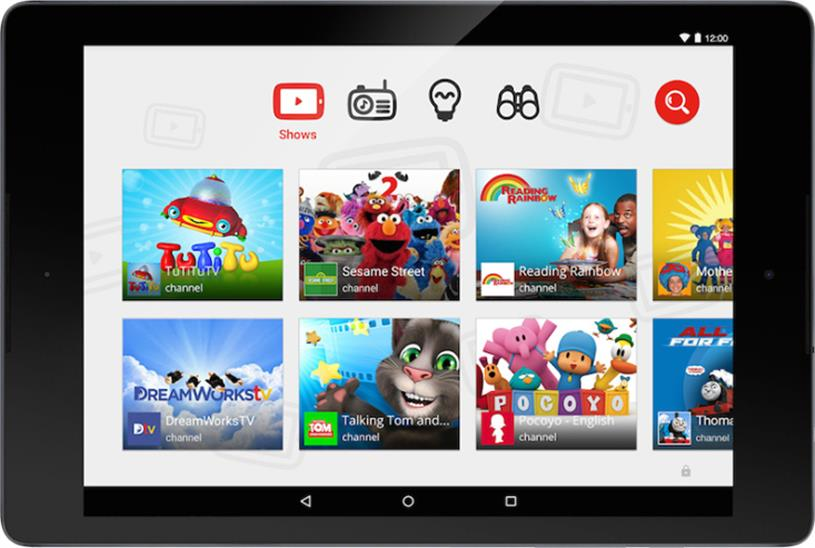 YouTube Kids: featuring child-friendly content such as Sesame Street.