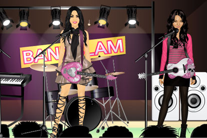 Stardoll has created a virtual campaign for Bandslam