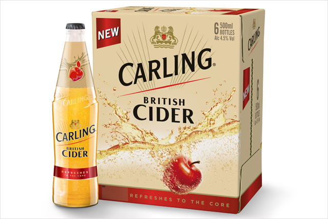 Molson Coors: unveils Carling British Cider