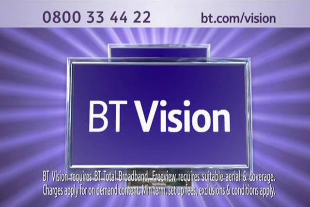 BT Vision: disappointed at results of subscriber push