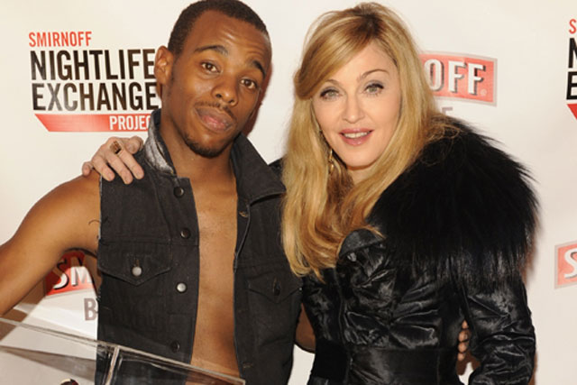 Madonna: with Smirnoff  competition winner Lil Buck
