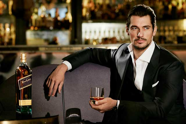 David Gandy: signed up as brand ambassador for Johnnie Walker Blue Label