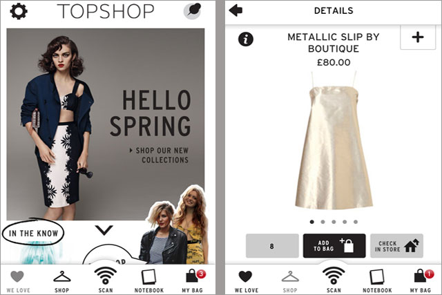 Topshop: rolls out iPhone app