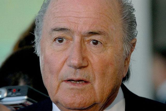 Underfire FIFA President Sepp Blatter