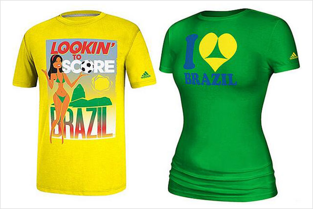 Adidas: withdraws 'sexualised' World Cup T-shirts