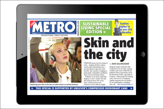 Metro: partners with Unilever for branded mini edition of the free title