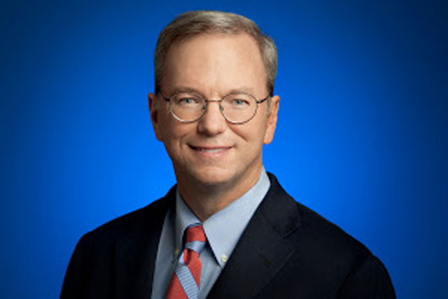 Eric Schmidt, executive chairman and former Google chief executive