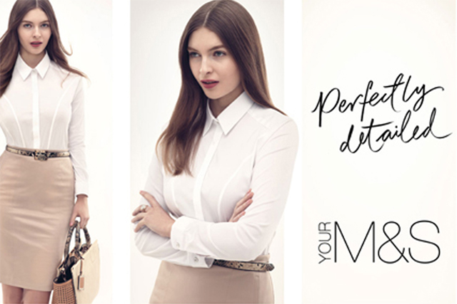 "M&S: ""perfectly"" campaign"