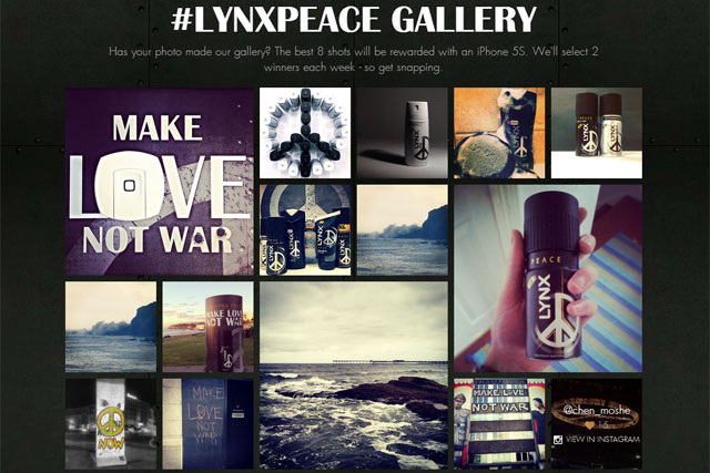Lynx Peace campaign created by TMW