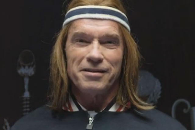 Arnold Schwarzenegger: the bewigged actor stars in Bud Light Super Bowl ad teaser