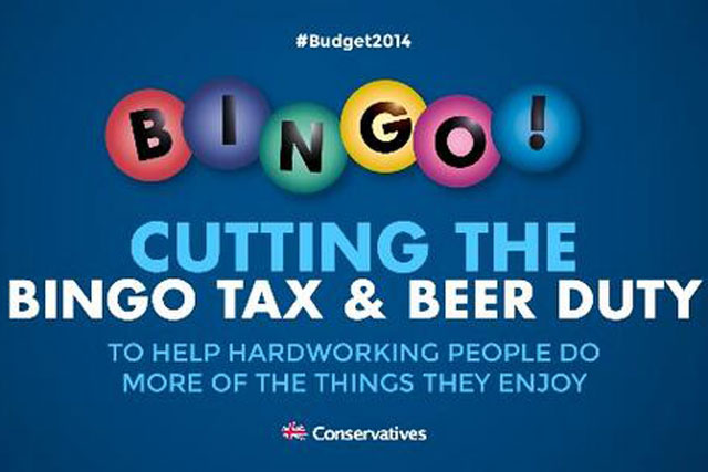 Bingo tweet: posted by Conservative Party chairman Grant Shapps