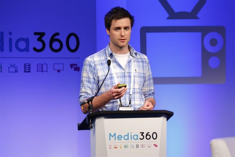 Naked Wines MD Eamon FitzGerald speaking at Media360