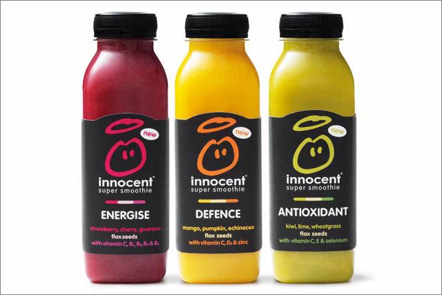 Innocent: new range of 'super smoothies'