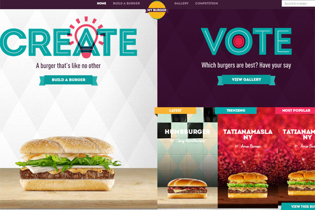McDonald's: unveils the Burger Builder website