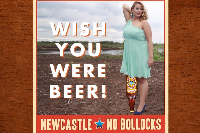 Newcastle Brown Ale: asking users to send in rubbish pictures to use in ads
