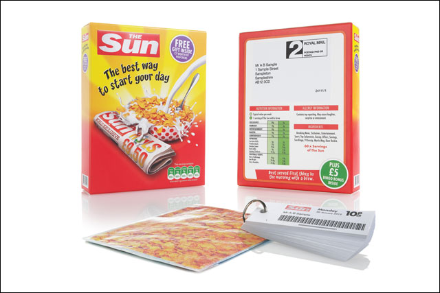 The Sun: adopts cereal pack guise for its discounts vouchers pack