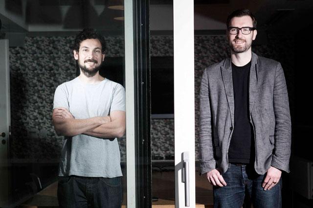 Chris Bovill (r) and John Allison: created award-winning work at Fallon