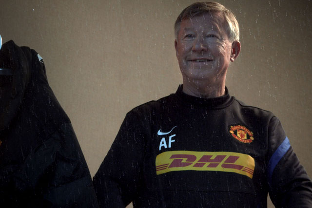 DHL: recent ad featured Sir Alex Ferguson