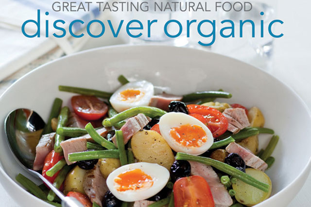 Discover Organic: celebrity cookbook produced by Haygarth for the Organic Trade Board